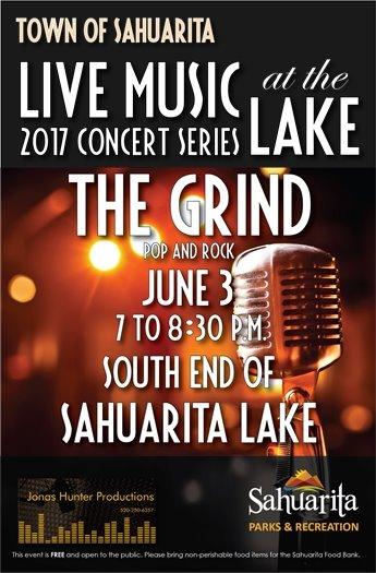 The Grind -- June 3 -- Pop and Rock -- Sahuarita Lake -- 7 to 8:30 p.m.