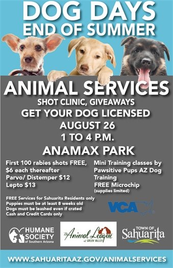 Animal Services poster shot clinic