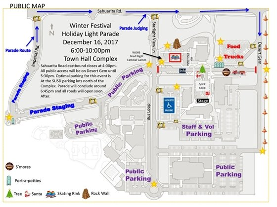 Public parking map image and map of event area
