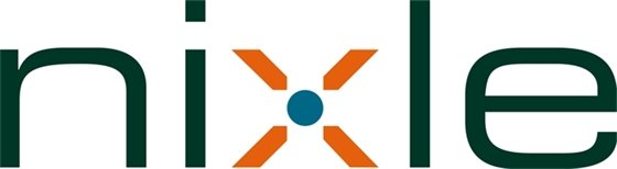 Nixle text logo