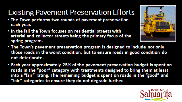 Existing Pavement Preservation Efforts
