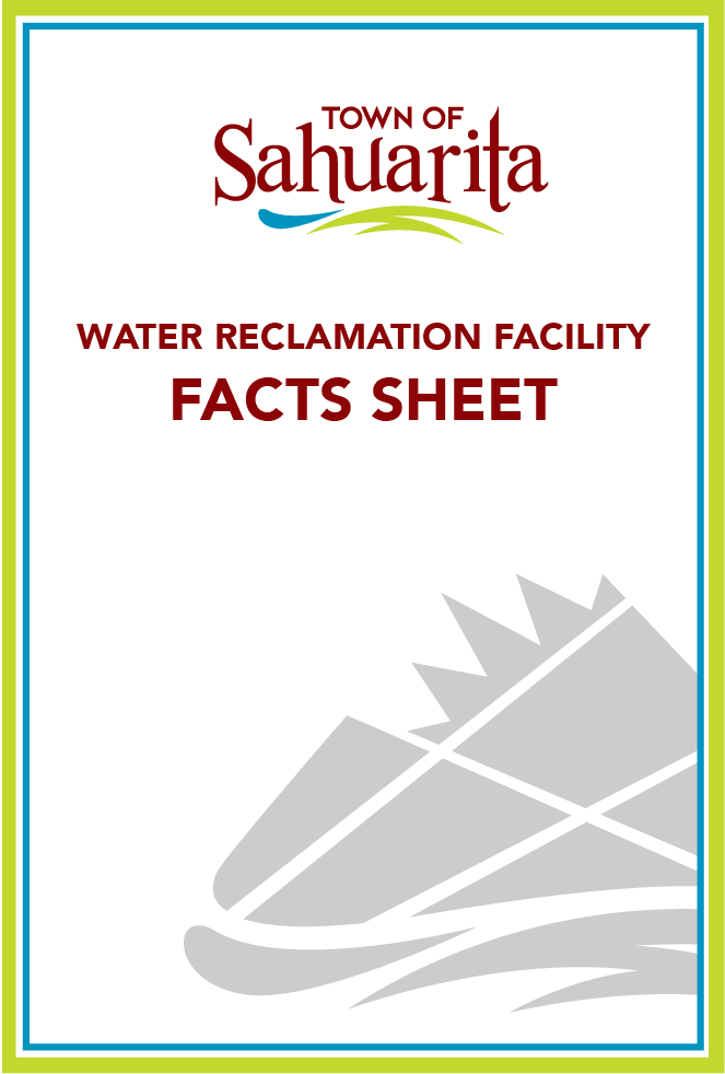 Town logo and &#34water reclamation&#34 facts in text
