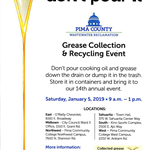 Pima County Grease and Recycling Event