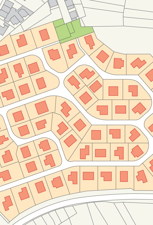 Blueprints of a neighborhood being developed