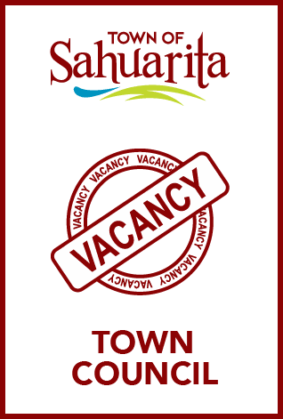 graphic all text with town of sahuarita logo; town council vacancies