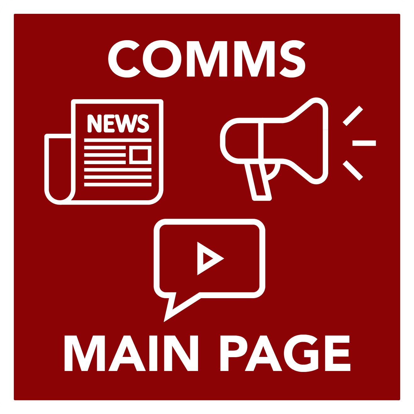 comms main  - button