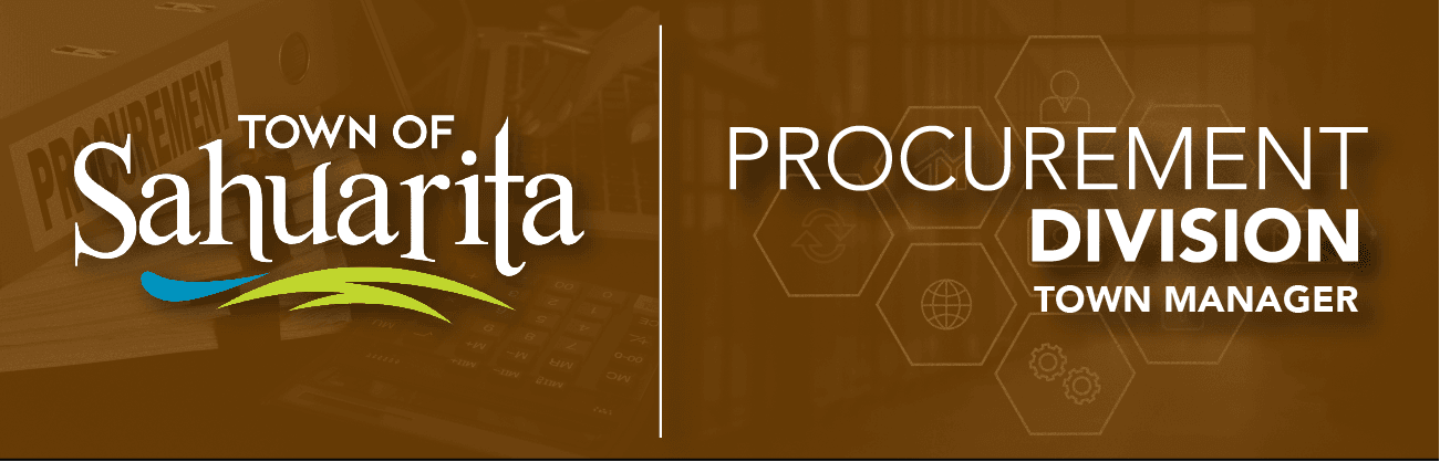 Procurement Banner - with procurment portfolio and hexoganal design representing procurement in back