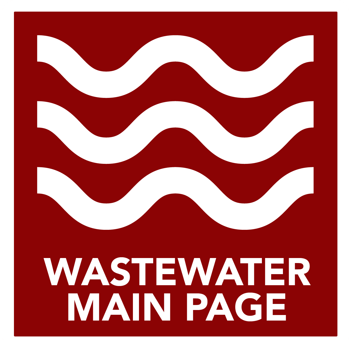 Wastewater Main Page - Button