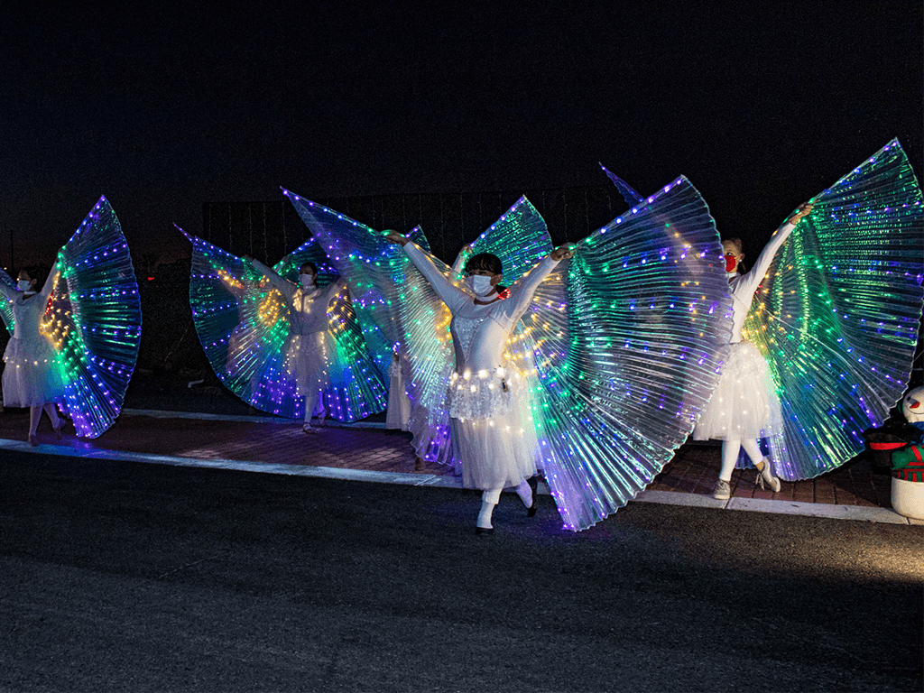 Dancers with Light Up Dresses and Wings