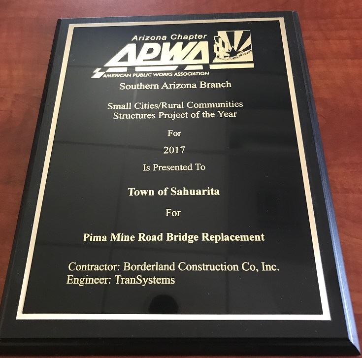 Pima Mine Road Bridge Replacement Award